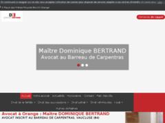 Avocat à Orange : Maître DOMINIQUE BERTRAND