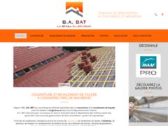 Création du site Internet de B.A. BAT (Blivet)  (Entreprise de Couvreur à FEUCHEROLLES )