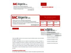 Détails : Site du bac algérien
