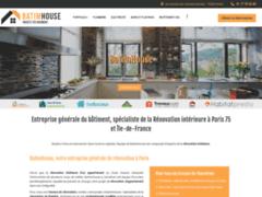 Création du site Internet de BatimHouse (Entreprise de Entreprise générale à PARIS )