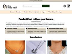 Détails : Beau Pendentif : bijoux pas cher en argent pour femme