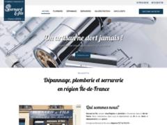 Création du site Internet de Bernard & Fils (Entreprise de Plombier à VINCENNES )