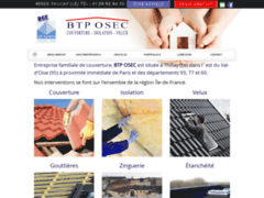 Création du site Internet de BTP Osec (Entreprise de Couvreur à THILLAY (LE) )