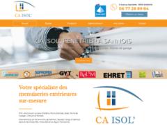 Création du site Internet de CA ISOL' (Entreprise de Menuisier à SANNOIS )