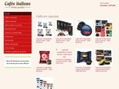 Boutique en ligne de cafés italiens en capsules, moulus et en grains