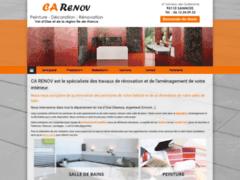Création du site Internet de CA RENOV (Entreprise de Peintre à SANNOIS  )