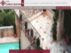 Création du site Internet de CARO DAVIN (Entreprise de Carreleur à CABRIERES )
