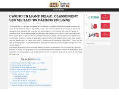 Détails : Classement des meilleurs casinos virtuels belges