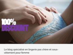 Détails : Lingerie femme - Cent pour Cent Discount