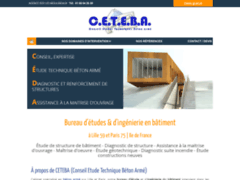 Création du site Internet de C.E.T.E.B.A (Conseil Etude Technique Béton Armé) (Entreprise de Bureau d'études à ISSY LES MOULINEAUX )