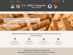 Création du site Internet de Charpente Ravel (Entreprise de Constructeur de maison à GEMENOS )
