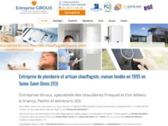 Création du site Internet de Entreprise Giroux (Entreprise de Chauffagiste à VILLEVAUDE )