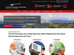Création du site Internet de Services Electriques Vinsonneau (EURL) (Entreprise de Chauffagiste à BEAUCHALOT )