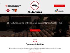 Création du site Internet de CL Toitures  couvreur      (Entreprise de Couvreur à ANTIBES )