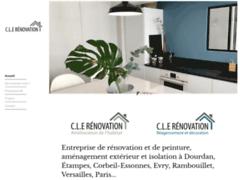 Création du site Internet de SAS CLE RENOVATION (Entreprise de Entreprise générale à BRIERES LES SCELLES )