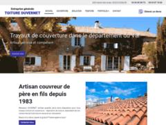 Création du site Internet de TOITURE DUVERNET (Entreprise de Couvreur à COGOLIN )