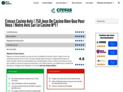 Détails : Test et avis sur Cresus Casino