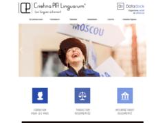 Création du site Internet de Cristina PIA Linguarum (Entreprise de Traducteur à GAP )