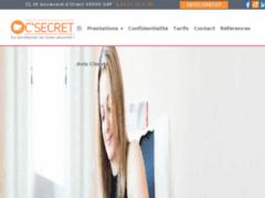 Création du site Internet de C'Secret (Entreprise de Assistante administrative à GAP )