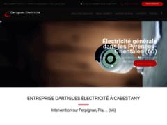 Création du site Internet de DARTIGUES Electricité (Entreprise de Electricien à CABESTANY )
