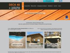 Création du site Internet de DECK 40 (Entreprise de Constructeur de maison à ESCOURCE )