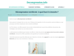 Tout savoir sur la décompression vertébrale