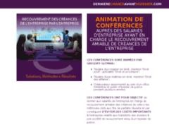 Détails : Animation de conférence sur les méthodes de recouvrement de créances