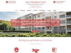 Création du site Internet de DM CONSTRUCTION (Entreprise de Entreprise générale à JUVIGNAC )