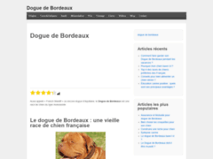 Toutes les informations utiles sur le Dogue de Bordeaux