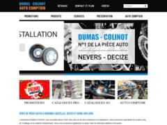 Création du site Internet de DUMAS COLINOT (Entreprise de Distribution de pièces automobile à VARENNES-VAUZELLES )