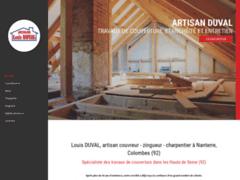 Création du site Internet de ARTISAN LOUIS DUVAL COUVERTURE (Entreprise de Couvreur à NANTERRE )