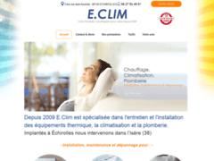 Création du site Internet de E.CLIM (Entreprise de Chauffagiste à ECHIROLLES )