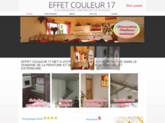 Création du site Internet de EFFET COULEUR 17 (Entreprise de Peintre à LA ROCHELLE )