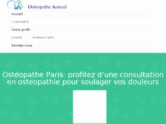 Détails : Service d'ostéopathes à Paris
