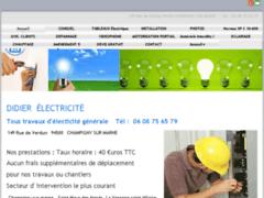 Création du site Internet de DIDIER  ELECTRICITE (Entreprise de Electricien à CHAMPIGNY SUR MARNE )