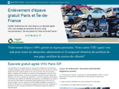 Détails : Epaviste France, enlèvement gratuit d'épave par épaviste agréé VHU