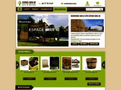 Boutique Espace Bois 42, panneaux, bois de construction, jardin, chauffage