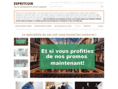 Détails : Sacs en cuir par EspritCuir.com