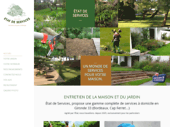 Création du site Internet de Etat de Services (Entreprise de Jardinier à VILLENAVE D'ORNON )