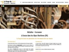 Création du site Internet de La Forge du Canal (Entreprise de Entreprise de clôture à GRASSE  )