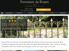 Création du site Internet de Ferronnier du Rouret (Entreprise de Artisan d'art à LE ROURET )