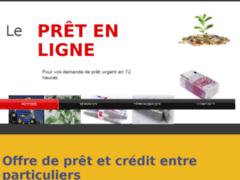 Détails : Offre de prêt et crédit entre particuliers