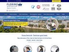 Création du site Internet de Florino Electricité (Entreprise de Electricien à PARIS )