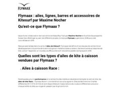 Détails : Flymaax