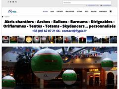 Ballon publicitaire avec logo personnalisé imprimé en couleur