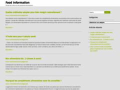 Détails : Informations nutritionnelles