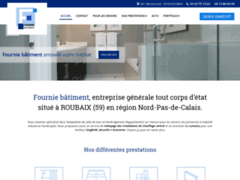 Création du site Internet de Fournie Batiment (Entreprise de Entreprise générale à ROUBAIX )