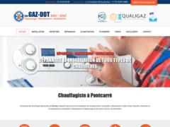 Création du site Internet de GAZ-DOT (Entreprise de Chauffagiste à PONTCARRE )