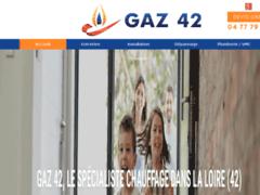 Création du site Internet de GAZ 42  (Entreprise de Chauffagiste à LA FOUILLOUSE )