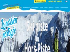 Création du site Internet de Gilles Moniteur de Ski Indépendant (Entreprise de Parcs d'attractions et de loisirs à EMBRUN )